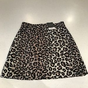 TOPSHOP Leopard Print Skirt Size US 6